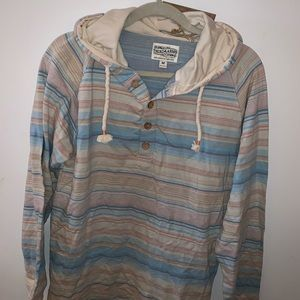 Men's Light weight pullover with hood stripes
